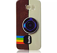 Vintage Camera Pattern TPU Soft Case for Samsung Galaxy S6