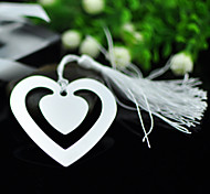 Hollow-Out Heart Metal Bookmark