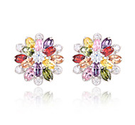 High Quality Fashion Women Pattern Zircon Earrings