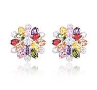 High Quality Fashion Women Pattern Zircon Earrings