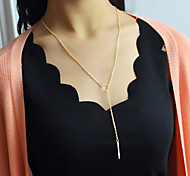 2015 New Coming Long Simple Cheap Chain Necklace