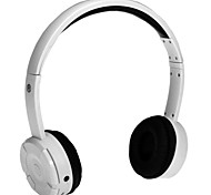 BM-086 Stereo HI-FI Headphone Earphone Gaming Headset with Microphone & Battery  Black and White