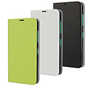 PU Leather Magnetic Ultra-thin Flip Cover Wallet Card Slot Case Stand Skin Cover for Nokia Lumia N630 (Assorted Colors)