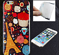 The Cartoon the Eiffel Tower Pattern TPU Ultra Soft Case for iPhone 6 Plus