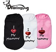 Dog T-Shirt - XXS / XS / S / M / L - Spring/Fall - Black / White / Pink Terylene