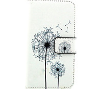 Для Кейс для Nokia Кошелек / Бумажник для карт / со стендом Кейс для Чехол Кейс для Одуванчик Твердый Искусственная кожа NokiaNokia Lumia