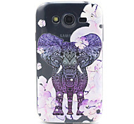 Flowers Elephant Pattern Relief TPU Soft Cover for Samsung Galaxy Grand Neo I9060/ Galaxy Grand I9080/I9082