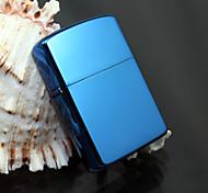 Exquisite Blue Bright Chrome Plated Kerosene Lighter