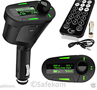 transmisor fm con kit manos libres de coche bluetooth / con mando inalámbrico / bluetooth 2.0 / mp3 juego sd card / mmc