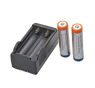 Glare Flashlight Batteries Charger for  18650 Rechargeable Li- ion Battery(Included 2x1800mAh 3.7V)