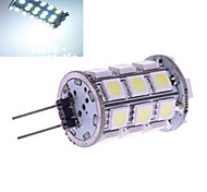 6W G4 2-pins LED-lampen 27 SMD 5050 230 lm Warm wit / Koel wit DC 12 V 5 stuks