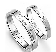 Sterling Silver Ring Couple Rings Wedding/Party/Daily/Casual