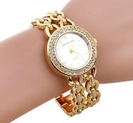 Women's Full Rhinestone Round Dial Fashion Bracelet Quartz Watch(Assorted Color)