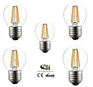 ONDENN Lâmpada de Filamento LED E26/E27 4 W 400 LM 2800-3200K K Branco Quente 4 COB 5 pçs AC 220-240/AC 110-130 V A