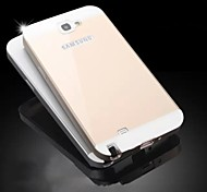Special Design Solid Color Metal Back Cover and Bumper for Samsung Galaxy NOTE 2 N7100(Assorted Colors)