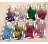 farbigem Sand Sterne Pailletten hintere Abdeckung für Samsung-Galaxie s5 / i9600 Fall (Farbe sortiert)