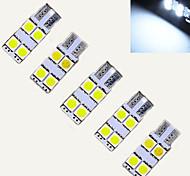 Luces Decorativas Decorativa Ding Yao T10 2 W 4 SMD 5050 60-100 LM Blanco Fresco DC 12 V 10 piezas