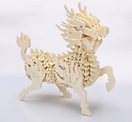 Kirin Wooden Jigsaw Puzzle Free Color