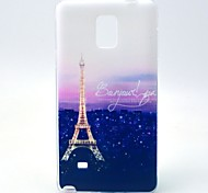 For Samsung Galaxy Note Pattern Case Back Cover Case Eiffel Tower TPU Samsung Note 4