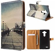 LG G4 PU Leather Full Body Cases / Cases with Stand Graphic / Special Design case cover