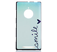 Smile Pattern PC Hard Case for Nokia Lumia 830