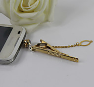Creative Dual Purpose Stickpin Alloy Diamante Anti-dust Plug for Universal Mobile Phone