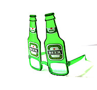 PC Funny Beer Bottle  Geek& Chic Party Glasses