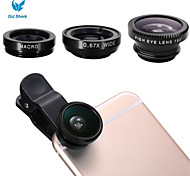 Old Shark Universal Clip-on 3 in 1 Fish Eye Lens+Wide Angle+Micro Lens Kit for iPhone6/6 Plus/5/5S/Sansumg Galaxy S3