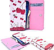 Delicious Fruit Heart Leather Wallet style Full Body Case and Card Slot for Samsung Mobile Size<13.8*7.6*2.1
