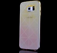 modello trasversale sottile trasparente cambiamento graduale stampato cassa fredda tpu telefono per la galassia S6 (colori assortiti)
