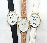 relógio de estilo fashion couro genebra banda de pulso de quartzo analógico das mulheres (cores sortidas)