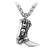 Men's Fashion Gothic Pendant Skull Shoe Pendant Stainless Steel Man's Jewelry Pendant