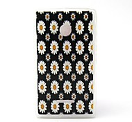 White Daisy Pattern TPU Material Phone Case And Screen Protector for Microsoft Lumia 435