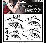 Eyes Temporary Tattoo Stickers One(pcs) Size 17*16cm