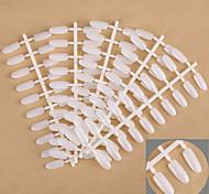 5PCS White False Nail Tips Nail Art Tips Color Card for Nail Art Design Practice Nail Polish Display