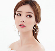 Pearl/Rhinestone Handcrafted Earring Drop Earrings Wedding/Party 2pcs
