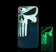cráneo patrón resplandor en el caso duro para el iphone 5 oscuro / iphone 5 s