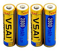 VSAI 1.2V 2800mAh AA Rechargeable NiMH Battery(4pcs)