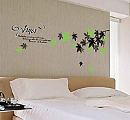 Fashion Natural Leaves PVC Wall Stickers Wall Art Decals