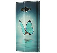 For Samsung Galaxy Case Card Holder / with Stand / Flip / Pattern Case Full Body Case Butterfly PU Leather Samsung Grand Prime