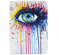 magic spider®colorful ogen pu lederen portemonnee case cover staan ​​met screen protector voor de samsung galaxy tab T530