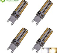 4 x G9 6W 64x3020SMD 550LM 3500K 6000K Warm White/Cool White Waterproof LED Corn Bulbs  AC110-130V AC220-240V