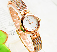 Women's New Explosion Round Diamond Dial Diamond Bracelet Fashion Quartz Watches