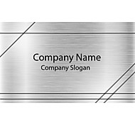 Business Cards 200pcs Silver Metal Pattern 2 Sided Printing of Film Art Filmed Paper