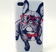 Gläser Hundemuster TPU weichen Kasten für iphone 4 / 4s
