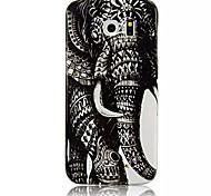 motif de l'éléphant rétro TPU étui souple pour Samsung Galaxy S6