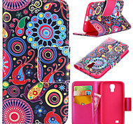 Colorful Circle Pattern with Card Bag Full Body Case for Samsung Galaxy S4 I9500