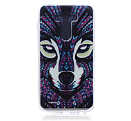 Wolf Pattern TPU Soft Back Cover Case for LG G3