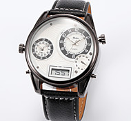 Military Men Round 3 Time Zone Strap Watch