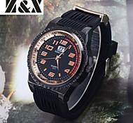 Men's Fashion Big Dial Quartz Analog Silicone Band Sports Wrist Watch(Assorted Colors)